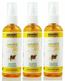 Donnara Organics 100% Pure Rosehip oil Combo pack of 3 bottl