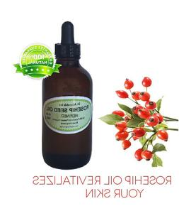 2 oz Glass Bottle 100% Rosehip Oil Pure Organic Rose Hip See