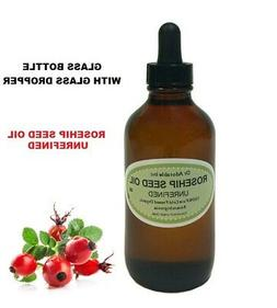 4 Oz Glass Dropper Premium Rosehip Oil Unrefined Pure Skin B