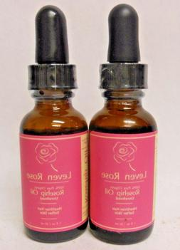 2 Pack Leven Rose Rosehip Oil, Pure, Cold Pressed, Unrefined
