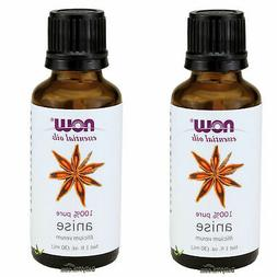 2 x Bottles NOW FOODS 100% Pure & Natural Essential Oil 1 oz