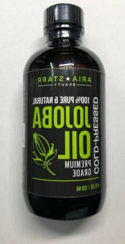 Aria Starr Jojoba Oil  - 100% Pure All Natural For Face, Hai