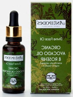 Avocado and Rosehip Organic Divine Face Oil 30ml Antipodes