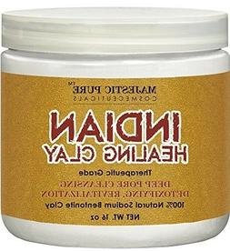 Majestic Pure Indian Healing Clay Powder, Deep Pore Cleansin