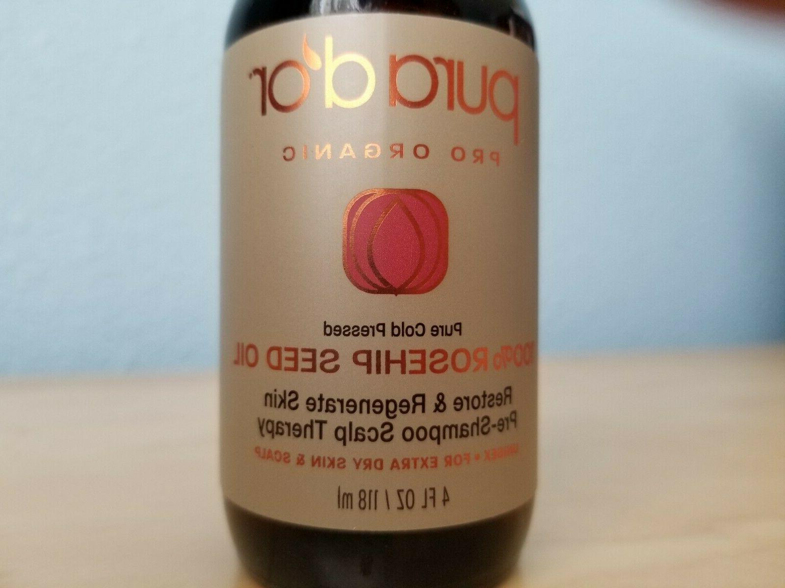 100% Organic Rosehip Seed Oil Pure Cold Pressed Face Hair Sk