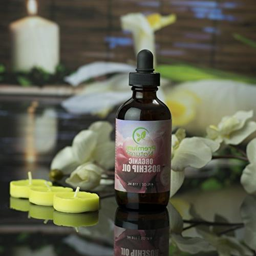 Organic Seed Oil Pure Rose Hip Face Hair Natural Skin Moisturizer Scar Removal & Acne Treatment Oils