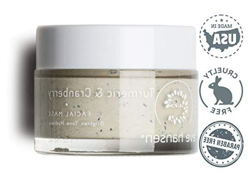 Anti & Refining Clay Mask by Hansen Extract, Cranberry Seeds, Clay, Rosehip Oil, Vitamins A, C -