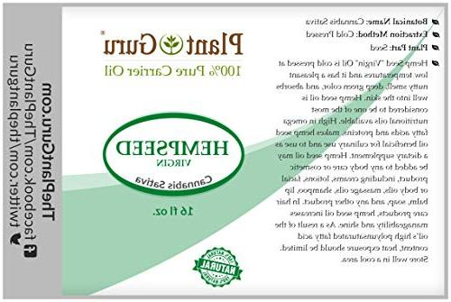 Hemp Seed oz. Virgin, Pure Natural Body Works For Acne, More!