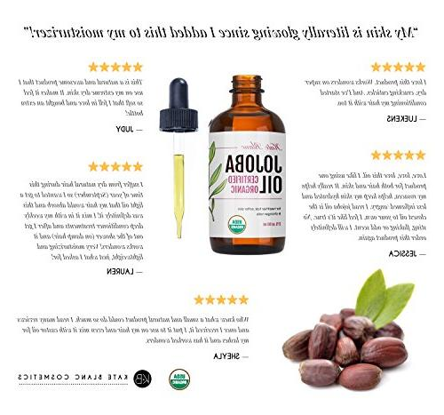 Jojoba Certified Pure, Cold Revitalizes Hair a Lips, Cuticles, Stretch Beard