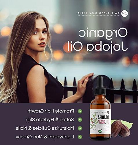 Jojoba , USDA Certified Organic, Cold Pressed, Unrefined. Hair and a Radiant, Youthful Look. Great treatment for Lips, Beard