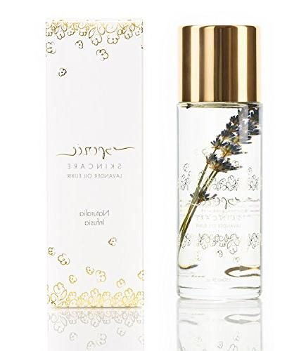 Luxury Lavender Oil 5oz - 100% Flower Face, Body, Oil Dry and All Coconut, Rosehip Apricot