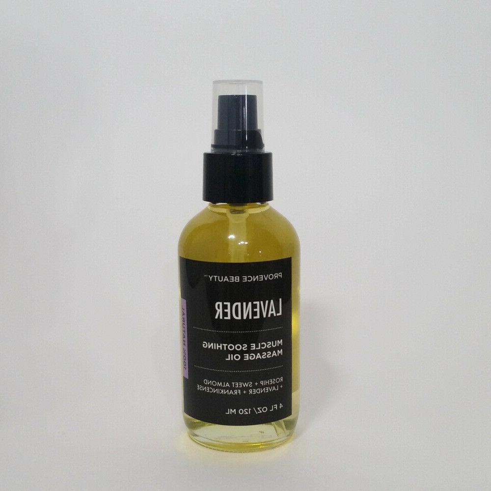 muscle soothing massage oil lavender rosehip sweet