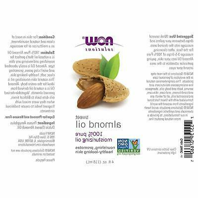 NOW Solutions, Almond Oil, 100% Pure Oil, Healthy-Lo
