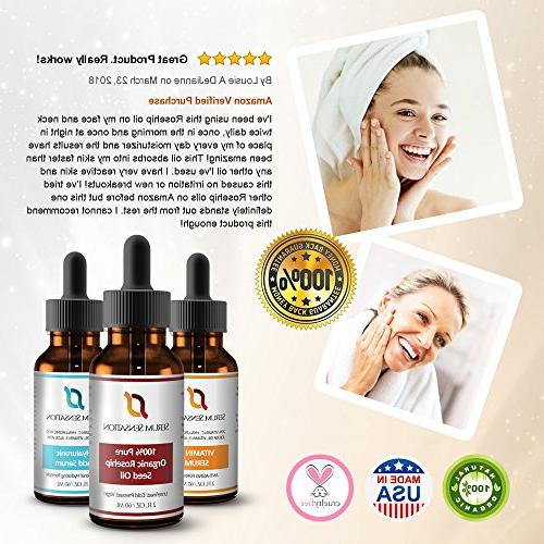 Serum Sensation Pure Organic Rosehip Oil, Reduce Scars, Face, Nails, and Skin