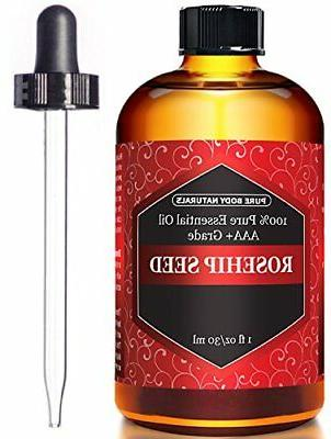 Rosehip Oil for Face Nails Hair and Skin - 100% Pure Cold Pr