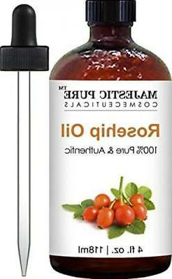 Majestic Pure Rosehip Oil for Face, Nails, Hair and Skin, 10