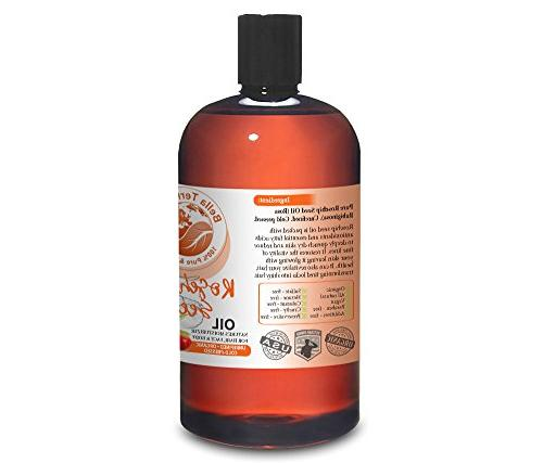 NEW Oil. 16oz. Unrefined. Organic. 100% Improves Appearance Wrinkles, Scars. Moisturizer. For Hair, Stretch Marks.