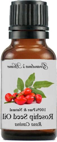 Rosehip Seed  Oil - 15 mL - 100% Pure and Natural - Free Shi