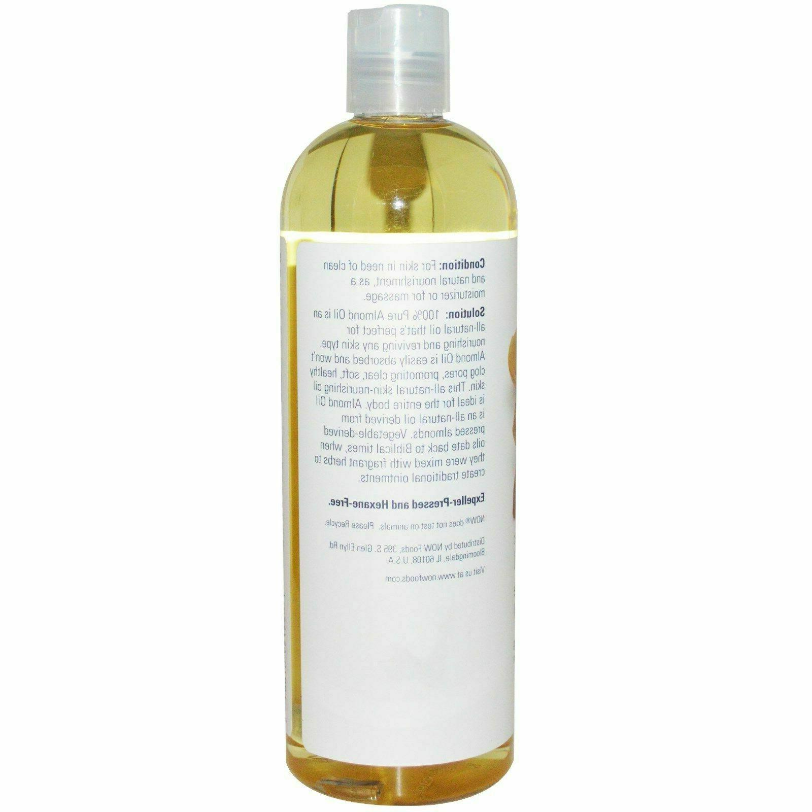 Sweet Almond 100% Pure by for Healthy Skin 16Oz Free