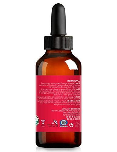 USDA Organic Rosehip | Unrefined, Carrier for Hair & Nails | | Cliganic 90 Days Warranty