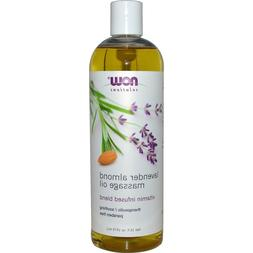 Now Foods Lavender Almond Massage Oil - 16 fl. oz. 8 Pack
