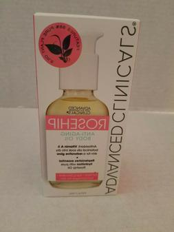 ADVANCED CLINICALS ROSEHIP ANTI-AGING BODY OIL VITAMIN A & B