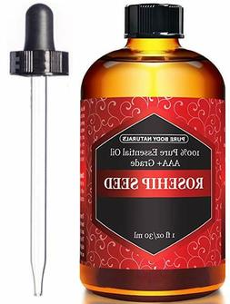 Rosehip Seed Oil for Face Nails Hair and Skin 1 oz. with dro