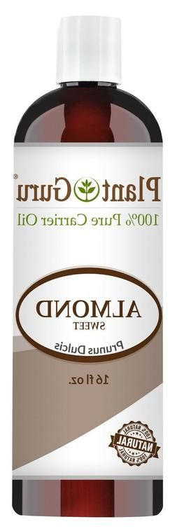 Sweet Almond Oil 16 oz. Cold Pressed Carrier 100% Pure Natur