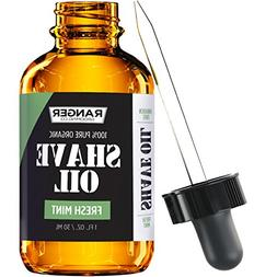 #1 TRUSTED Leven Rose Organic Fresh Mint Shave Oil - 1 oz -