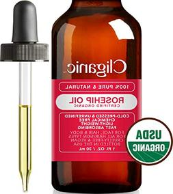 USDA Organic Rosehip Oil for Face, 100% Pure | Natural Cold